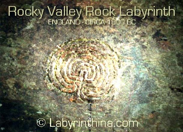 England rock carving